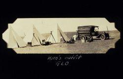 Government Land Office survey camp in South Dakota. Photo