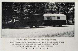 Truck and trailer of the gravity party Photo