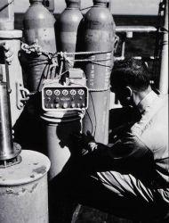 Angelo Ferrara operating velocimeter Photo