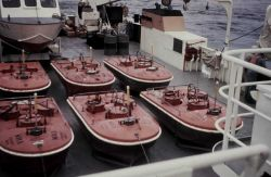 Current buoys on deck on the FERREL for Maine project. Photo