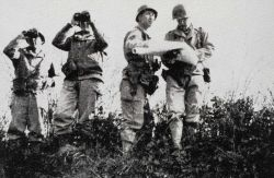 Lieutenant Fountain and Sergeant Newton on reconnaissance training Photo