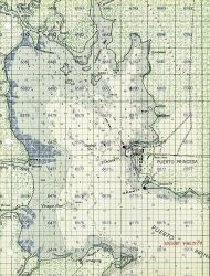 C&GS Puerto Princesa, Philippines chart with military grid Photo