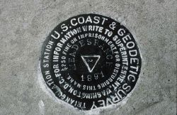 Bronze triangulation mark Photo