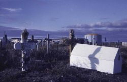The cemetery at Nome. Photo