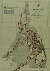 Triangulation diagram showing near completion of triangulation of Philippines Photo
