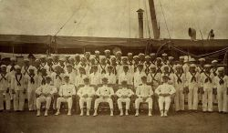 Officers and crew of the PATHFINDER Photo