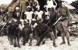 The Philippine constabulary guard with shore party of Hubert A Photo