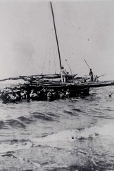 An inter-island ferry used by a C&GS party. Photo