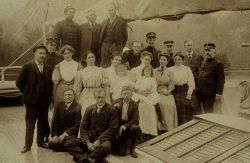 Officers and wives of the GEDNEY. Photo