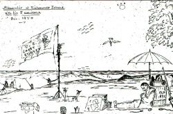 Cartoon by Alexander Wadsworth Longfellow, brother of Henry Wadsworth Longfellow Photo