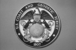Black and white version of Coast and Geodetic Survey emblem Photo
