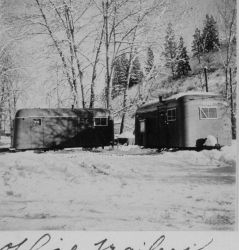 Office trailers in the city park at Colfax, Washington. Photo
