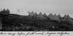 Base camp at Kotzebue, Alaska, before the field work began. Photo