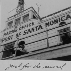 Harbor office at the port of Santa Monica. Photo