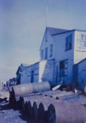 Upper right windows were location of Paulson apartment in Kotzebue. Photo