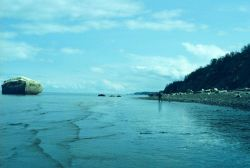 Looking northeast from tide gauge location in Upper Cook Inlet Photo