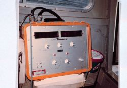 Del Norte navigation receiver aboard inshore survey boat. Photo