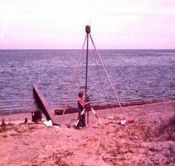 Del Norte navigation system shore positioning station. Photo
