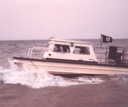 Inshore survey boat for use in shallow water. Photo