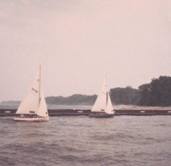 Sailboats in Fairport Harbor. Photo