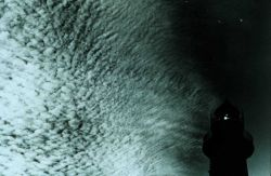 Cirro-cumulus associated with jet stream Photo
