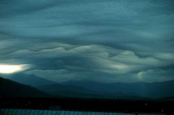 Wave clouds over Mt Photo