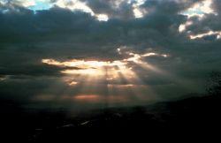 Crepuscular rays Photo
