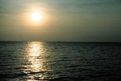 Hazy day sunset Photo