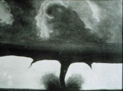 One of the oldest known photographs of a tornado Photo