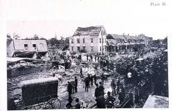 Damage to the downtown area of Lawrence Photo