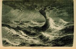 A waterspout at sea In: The Atmosphere translated by James Glaisher, 1873 From the work of Camille Flammarion Figure 65, p Photo