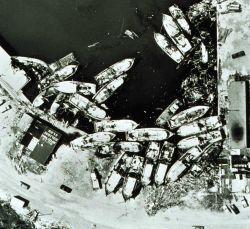 The Holiday Club at Aransas Pass, Texas - the scene of mass groundings Shrimp fleet aground after Hurricane Celia Photo