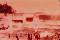 Hurricane pounding New England coast Photo