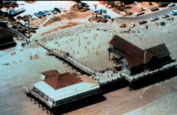 Atlantic House Restaurant at Folly Beach before Hurricane Hugo Photo