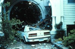 A house on the southern tip of Charleston fared well during the storm However, the car was not as lucky After passage of Hurricane Hugo Photo