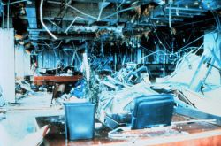 Hurricane Andrew - Even the chief executive officer wasn't spared Office of Corporate Executive Officer of Burger King World Headquarters Photo