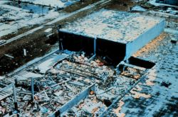 Hurricane Andrew - Remains of a furniture warehouse west of Whispering Pines Photo