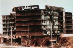 Hurricane Andrew - A large hotel at Cutler Ridge north of Homestead This hotel suffered extensive wind damage Photo
