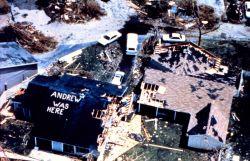 Hurricane Andrew - Despite the devastation folks still had time for humor Photo