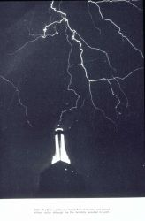 Lightning striking the Empire State Building Photo