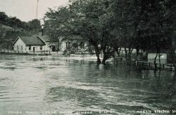 The Great Mississippi River Flood of 1927 Flooded power plant at Oswego, Ks., on the Neosho River April 23, 1927 - river stage 25.4 feet From: