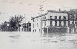Broadway in Watervliet, New York, under 8 feet of water Photo