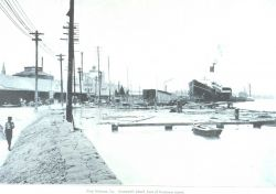 Cromwell Wharf at the foot of Toulouse Street during the floods of the spring of 1903 Photo