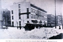The Great Blizzard of March 12, 1888. Photo