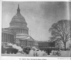 The Capitol steps gathered its share of snow during the