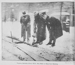 Thawing switches - every effort was made to keep the street cars running during the