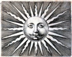 Blow up of sun image on title page of
