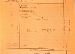 Diagram of kite field at Ellendale Aerological Station Photo