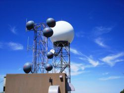 NWS Radar Tower and Radome Photo