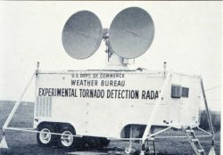 The Weather Bureau's first experimental Doppler Radar unit Photo